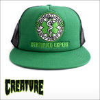 CREATURE【クリーチャー】メッシュキャップ FIRST AID CAP(Forest/Black)