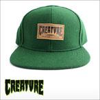 CREATURE【クリーチャー】キャップ   LOGO WOOL CAP(Forest)