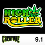 "CREATUREステッカー HIGH ROLLER 3.6""9.1cm"