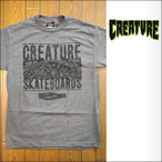 Creature【クリーチャー】Tシャツ S/S REMEMBER TO DIE charcoal