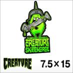 """Creature【クリーチャー】ステッカー SkateHorde 3.5"""" 7.5×15"""