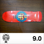 DOGTOWN【ドッグタウン】スケボーデッキ MID SIZE CRISIS RED DOG (Red) 9 x 34