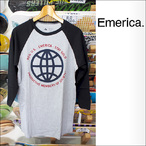 Emerica【エメリカ】ラグランTシャツ PRODUCTIVE MEMBER RAGLAN(Black/Heather Gray)サイズ:S