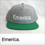 Emerica【エメリカ】キャップ PURE SNAPBACK HAT (Green/White)
