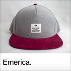 Emerica【エメリカ】キャップ STANDARD ISSUE SNAPBACK CAP (Gray/Burgundy)