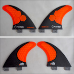 FCS【エフシーエス】クワッド用バックフィン SHAPERS FINS AM2【アルメリック】 QUAD REAR Carbonstealth