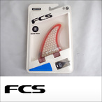 FCS【エフシーエス】クワッド用バックフィン FCS G-XQ Rear Set (Red/Clear)