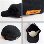 Feeling【フィーリング】キャップ ロゴ CAP(Black)