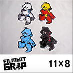 FILMBOT【フィルムボット】ステッカー RETAIL STICKER(White/Red/Skyblue/Black)