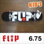 Flip【フリップ】キッズコンプリート TEAM ODYSSEY BLK MICRO (BULLETトラック、FLIPウィール52㎜)6.75×28.5