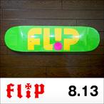 Flip【フリップ】スケボーデッキ TEAM ODYSSEY LOGO DAY GLO GRN 8.13×32
