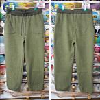 GREEN CLOTHING【グリーンクロージング】ロングパンツ FLEECE PT POLYESTER (Olive) サイズ:M