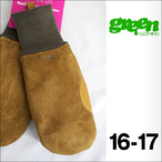 【16-17】GREEN CLOTHING【グリーンクロージング】スノーグローブ SUEDE MITT Cow Skin (Camel)