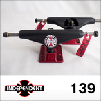 Independent【インデペンデント】スケボートラック stage11 Forged Titanium Flat Black Ano Red Trucks 139