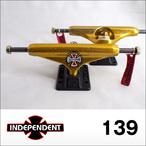 Independent【インデペンデント】スケボートラック stage11 Forged Titanium (Gold/Black) 139