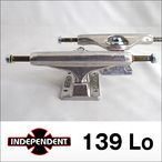 Independent【インデペンデント】スケボートラック stage11 Silver Trucks 139 Low