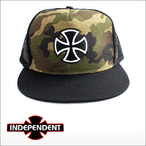Independent【インデペンデント】メッシュキャップ OUTLINE CROSS(Camo/Black)