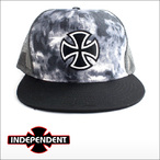 Independent【インデペンデント】メッシュキャップ OUTLINE CROSS(TieDye/Black)