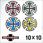 """Independent【インデペンデント】ステッカー Cut Cross4"""" 10×10"""
