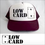 LOWCARD【ローカード】メッシュキャップ LOGO(Burgundy)