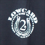 LOWCARD【ローカード】Tシャツ IT'S HARD TO WIN (Black)サイズ:S