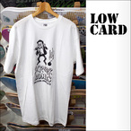 LOWCARD【ローカード】Tシャツ SCRAGGLER BOMBS (White)サイズ:L
