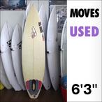 【中古】Moves【ムーブス】サーフボード 6'3×18 3/8×2 1/4 フィン無