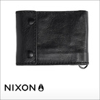 NIXON【ニクソン】二つ折り財布 GRAVEL BI-FOLD ROPE WALLET(Black)
