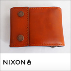 NIXON【ニクソン】二つ折り財布 GRAVEL BI-FOLD ROPE WALLET(Saddle)
