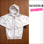 NIXON【ニクソン】ジップパーカー [Women's] SMORS ZIP HOOD(Heather Gray)サイズ:S