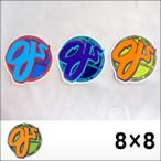 oj wheel【オージェイ ウィール】ステッカー 8×8