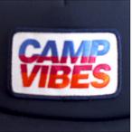 Poler Camping Stuff【ポーラーキャンピングスタッフ】メッシュキャップ CAMP VIBES TRUCKER CAP(Navy)