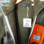 Poler Camping Stuff【ポーラーキャンピングスタッフ】フリースジャケット MEN'S HALF FLEECE JACKET (Olive) サイズ:S