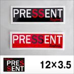 PRESSENT SurfBoards【プレゼントサーフボード】ステッカー 12×3.5cm