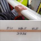 【中古】PRESSENT Surfboards【プレゼント】DRONPAモデル サーフボード DRONPAモデル (デッキコンケープ) 5.11×48.5×4.5