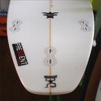 【中古】PRESSENT Surfboards【プレゼント】SHORTモデル サーフボード (ノーズ折れリペア済(ノーズから12cm) 5.10×47×5.6