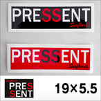 PRESSENT SurfBoards【プレゼントサーフボード】ステッカー 19×5.5cm