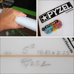 PYZEL【パイゼル】サーフボード STUBBY Bastardモデル FCSII 5'10×18.63×2.25