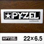 PYZEL【パイゼル】ステッカー LOGO M 22×6.5cm