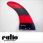 ratio【レイシオ】ロングボード用フィン RST-03 7.0 エフェクトシステム(レッドブラックボーダー)