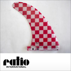 ratio【レイシオ】ロングボード用フィン RST-03 8.5 エフェクトシステム(レッドチェッカー)