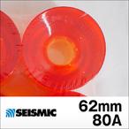 SEISMIC【セイスミック】ウィール WHEEL 3DM-brand CANBRIA (Clear Orange) 62mm/80A