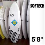 SOFTECH【ソフトテック】サーフボード JL5'8 (NXL) 172.7×55×7.3cm(FCS製ソフト5フィン付)