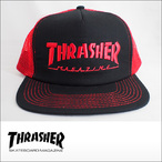 Thrasher【スラッシャー】メッシュキャップ Embroidered Logo Mesh Cap (Black/Red)