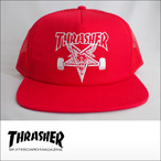 Thrasher【スラッシャー】メッシュキャップ Skategoat Mesh Cap (Red/White Embroidered)