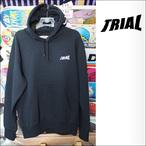 TRIAL【トライアル】ヘビーウエイトプルパーカー(裏起毛) 11.5オンス (ブラック)