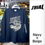 TRIAL【トライアル】ロンT 2015-SSS(Navy×Beige)