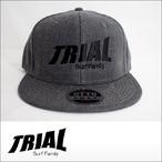 TRIAL【トライアル】キャップ Heather Black (Black Logo)