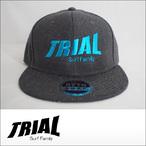 TRIAL【トライアル】キャップ Heather Black (Light Blue Logo)