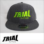 TRIAL【トライアル】キャップ Heather Black (Light Green Logo)